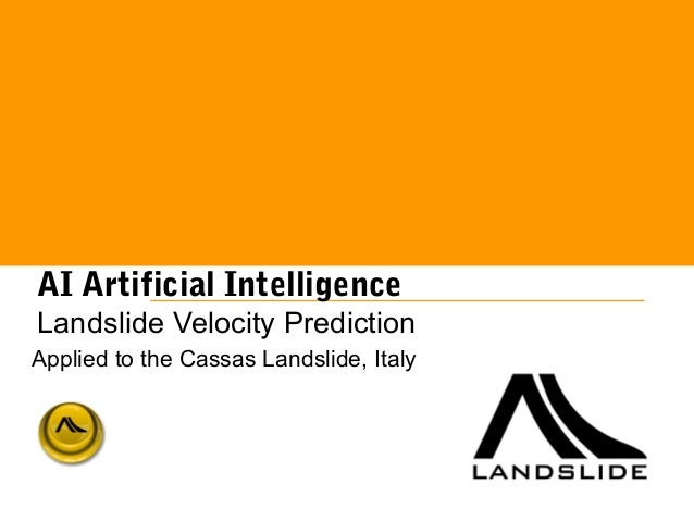 AI Artificial Intelligence. Landslide velocity prediction applied to the Cassas Landslide, Piedmont, Italy