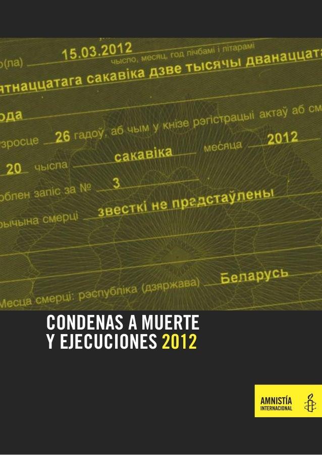 Ai   ejecuciones 2012
