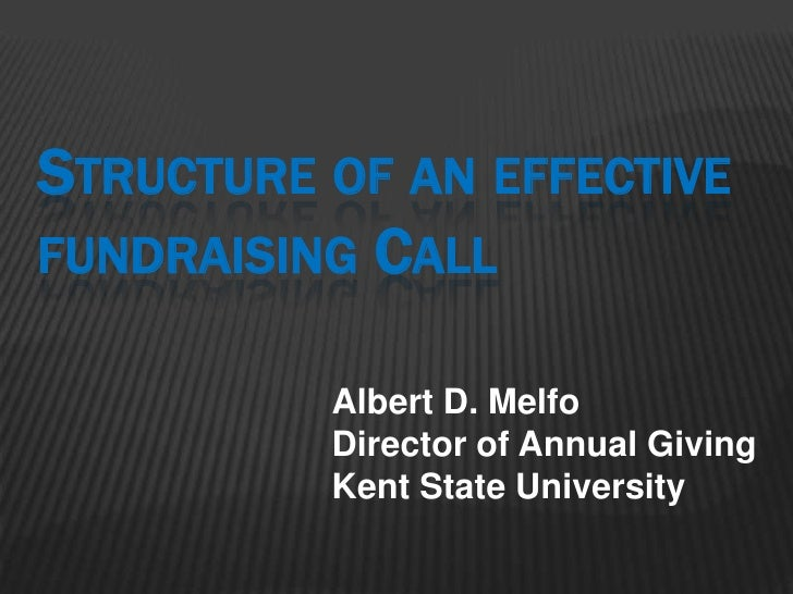 The Structure of an Effective Fundraising Call