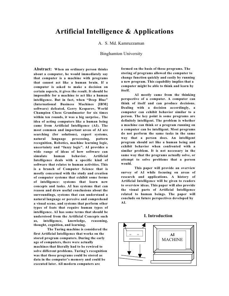 Artificial Intelligence & Applications                                              A. S. Md. Kamruzzaman                 ...