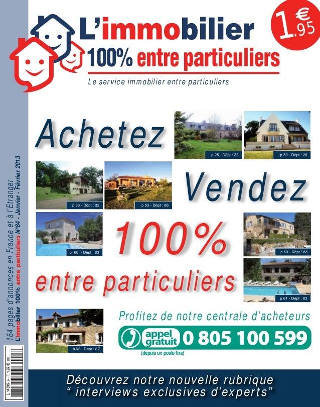 084APLIM_001_002_057APLIM_001_002.qxd 11/12/2012 13:54 Page 1  1  €  .95  164 pages d'annonces en France et à l'Etranger  ...