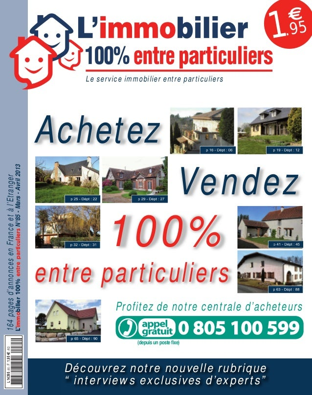 L'immobilier 100% entre Particuliers : Journal Mars - Avril 2013