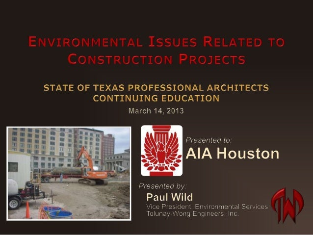 Environmental Issues Related to Construction Projects