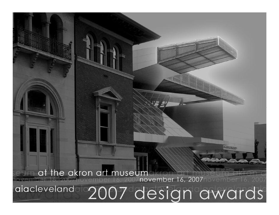 AIA Cleveland 2007 Design Awards
