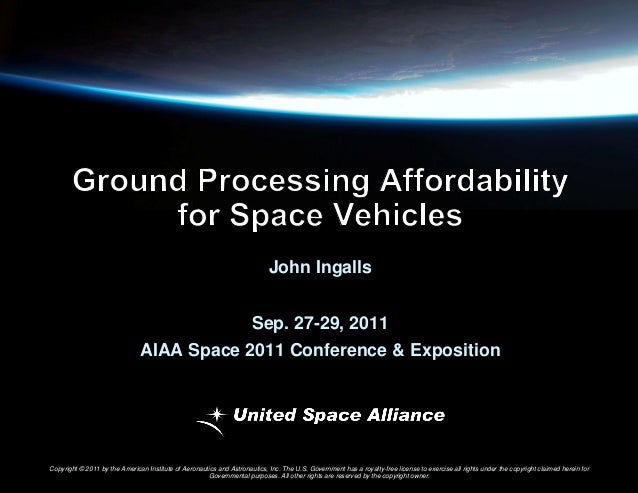 Ground Processing Affordability for Space Vehicles