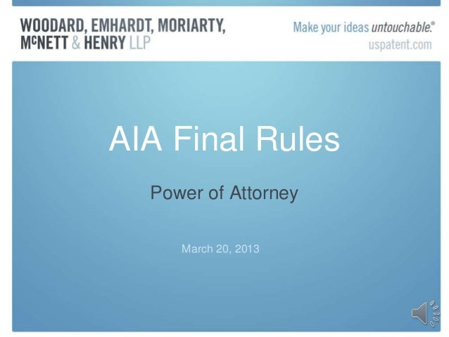 AIA Power of Attorney Practice Presentation Mar-20-2013