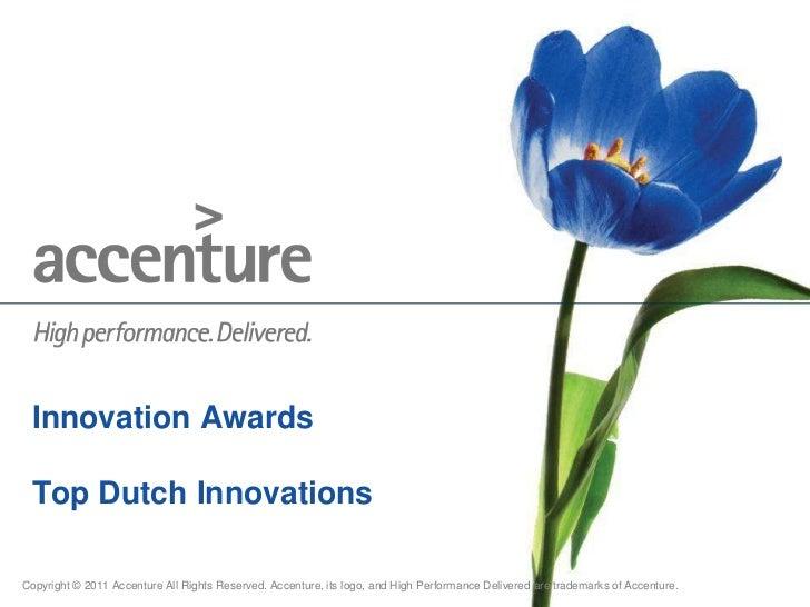 Innovation Awards Top Dutch Innovations<br />