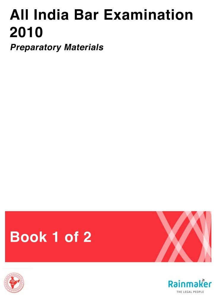 All India Bar Examination: Preparatory Materials                                                      All India Bar Examin...