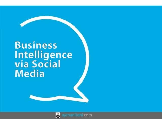 Business Intelligence via Social Media