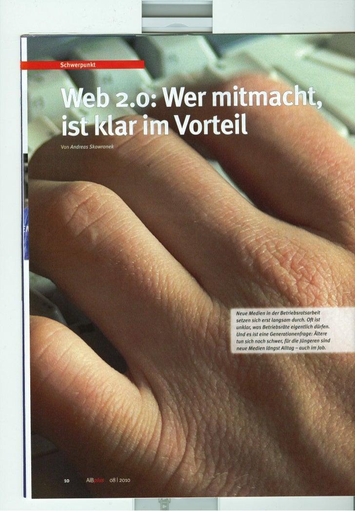 Skowronek: Betriebsrat und Web 2.0