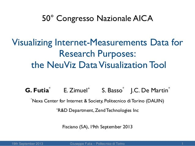 Visualizing Internet-Measurements Data for Research Purposes: the NeuViz Data Visualization Tool