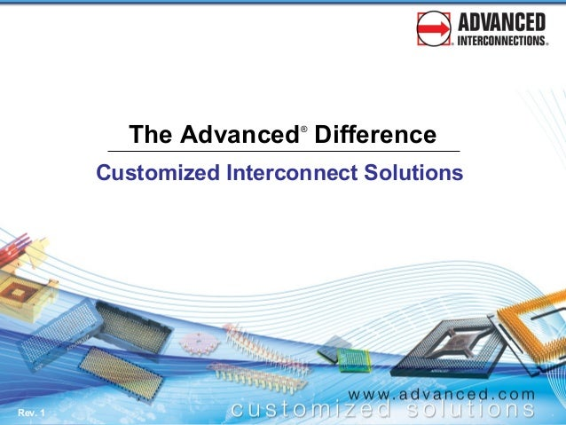 Customized Interconnect Solutions from Advanced Interconnections Corp., featuring IC Sockets, Adapters, and Connectors.