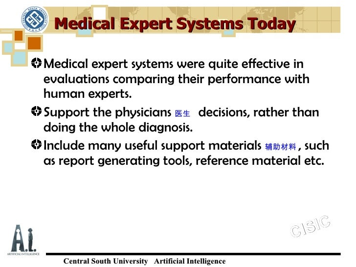 Expert Systems Examples Medical Medical Expert Systems