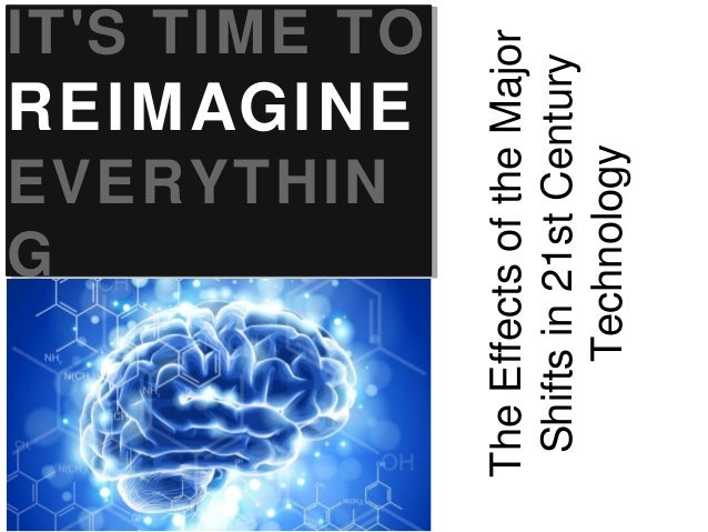 REIMAGINE  EVERYTHIN G The Effects of the Major Shifts in 21st Century Technology  IT'S TIME TO