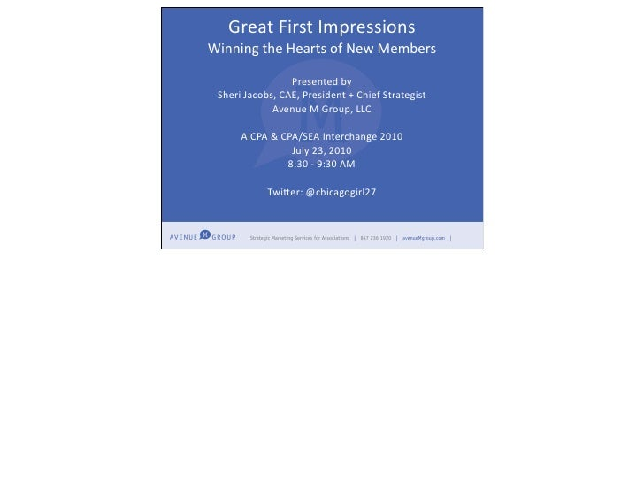 Aicpa interchange great first impressions