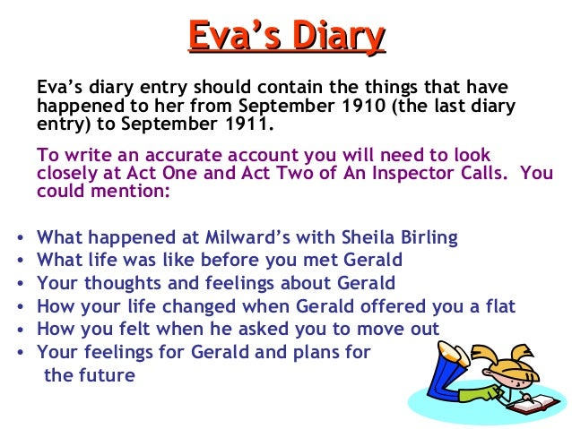 eva smiths diary 4 essay George maintains his game-playing and point-scoring with martha by assuming a teacher-like tone, while martha is the pupil he explains that the chromosome business is very simple, martha, patronising her like she's a child, again continuing the games.