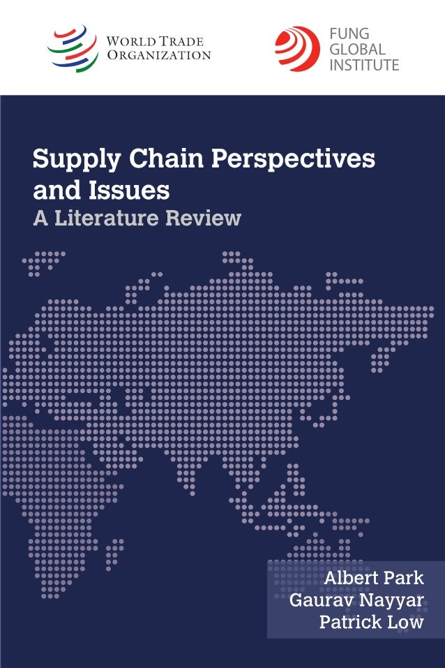 Supply chain management literature review