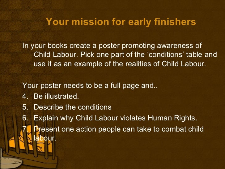 report writing on child labour Child labor has been an international concern because it damages, spoils and destroys the future of children the law in indian soil says that any child below age of.