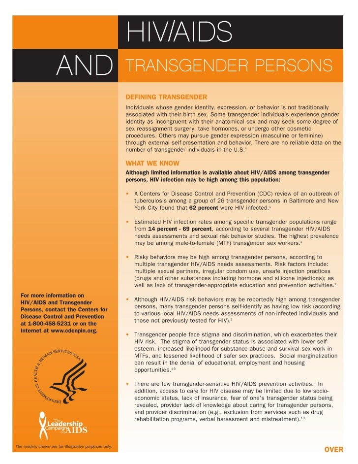 Aids And Transgender Persons