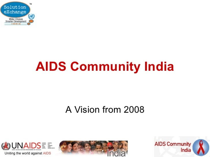 Aids community india vision from 2008