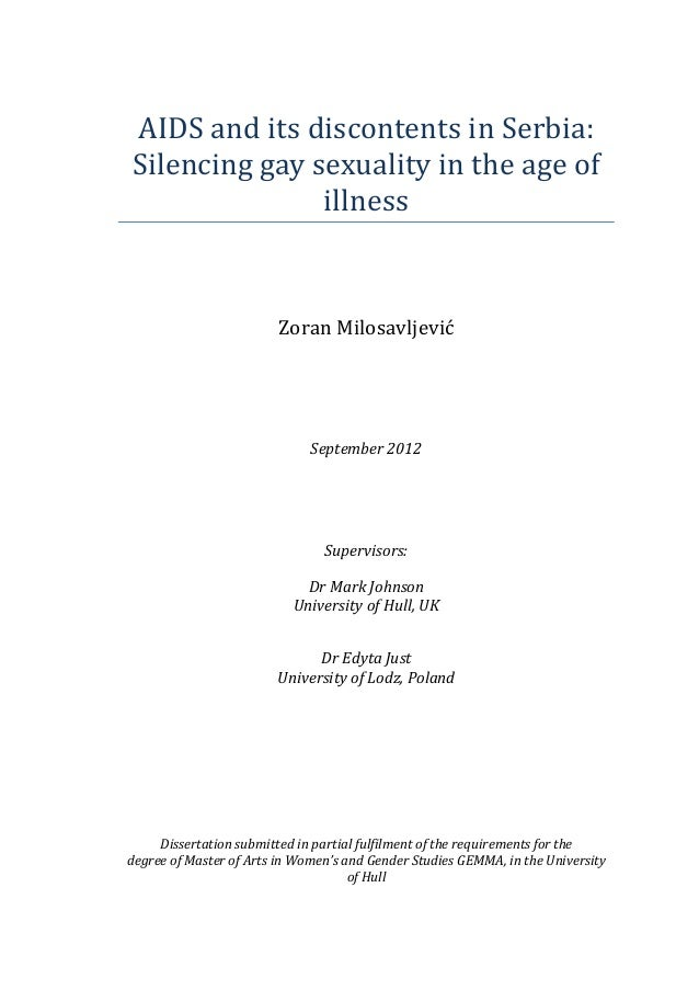AIDS  and  its  discontents  in  Serbia:   Silencing  gay  sexuality  in  the  age  of   illne...