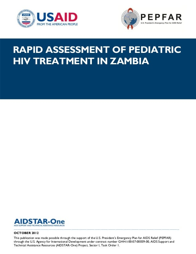 AIDSTAR-One Rapid Assessment of Pediatric HIV Treatment in Zambia