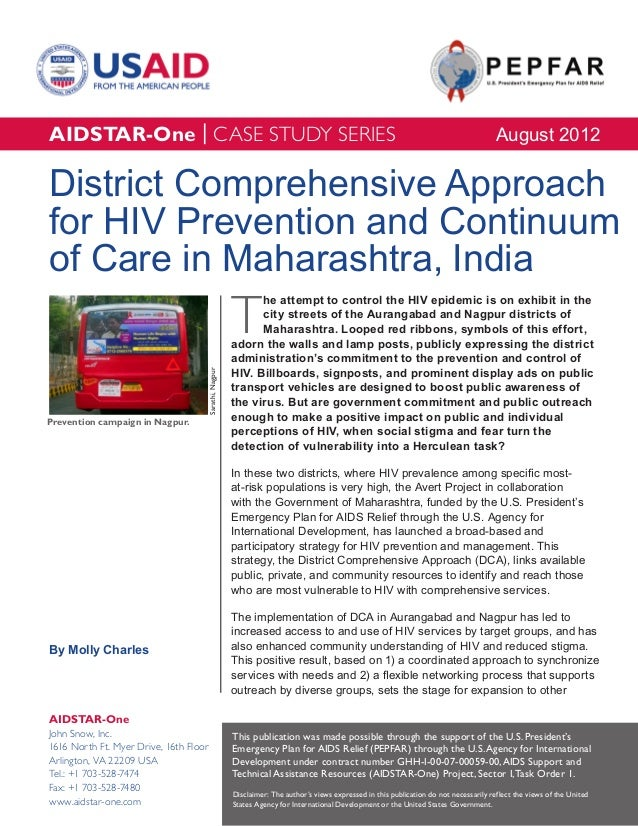 AIDSTAR-One District Comprehensive Approach for HIV Prevention and Continuum of Care in Maharashtra, India