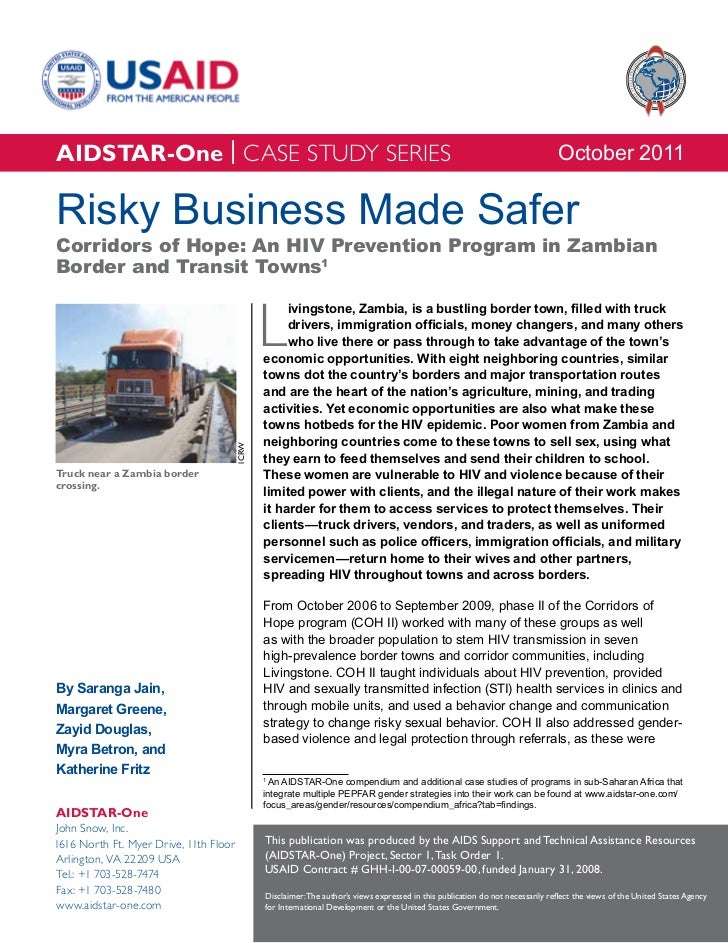 AIDSTAR-One Case Study - Risky Business Made Safer: HIV Prevention in Zambia's Border Towns