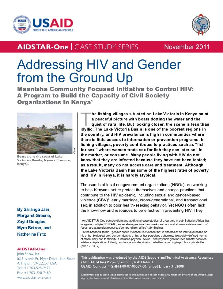 AIDSTAR-One Case Study: Addressing HIV and Gender from the Ground Up in Kenya
