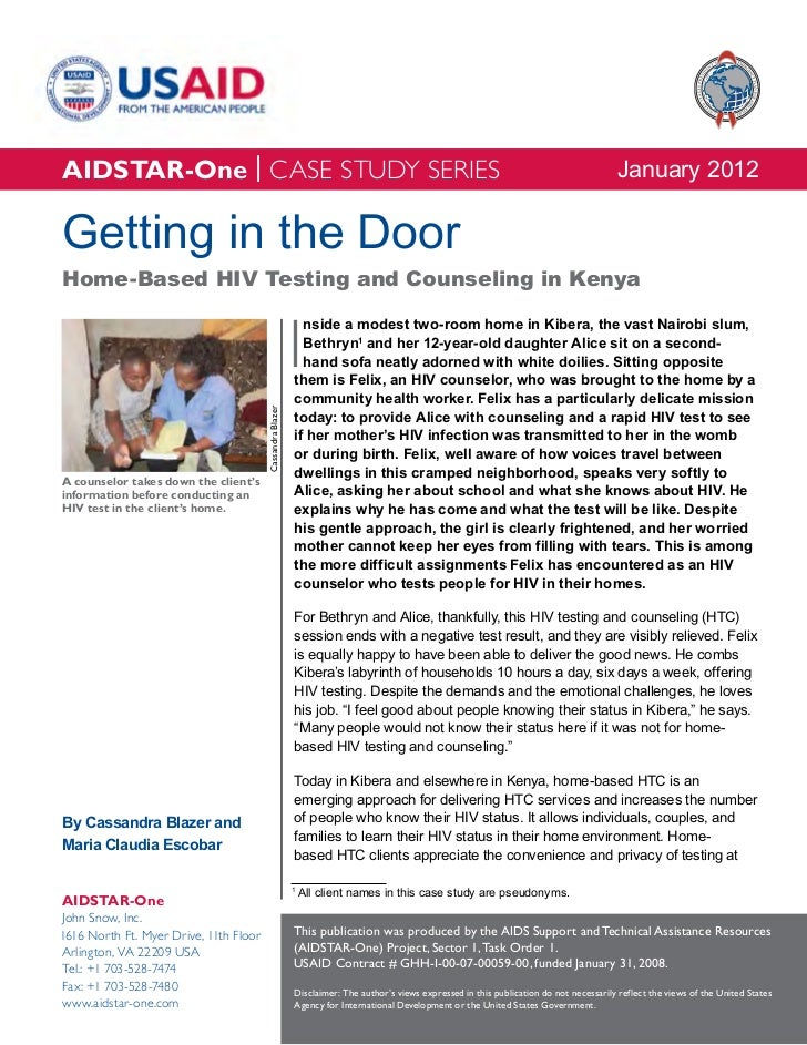 Case Study: Getting in the Door - HBHTC in Kenya