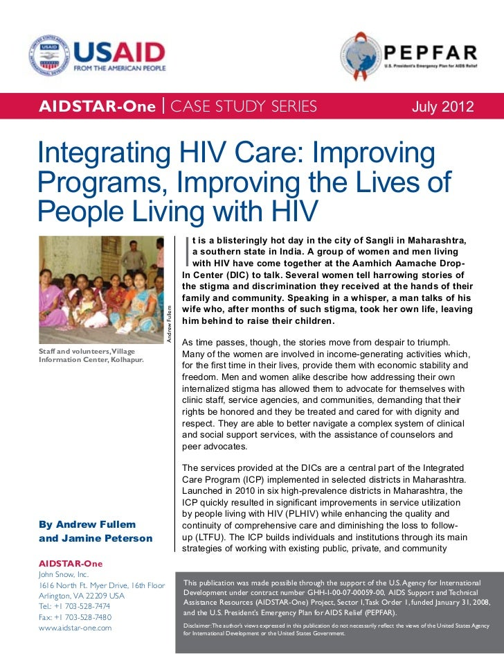 AIDSTAR-One Case-Study: Integrated HIV Care in India