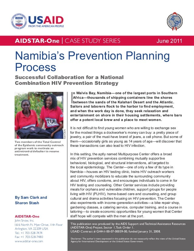 AIDSTAR-One Namibia's Prevention Planning Process