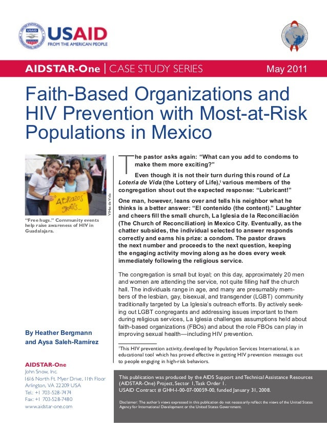 AIDSTAR-One Faith-Based Organizations and HIV Prevention with MARPs in Mexico