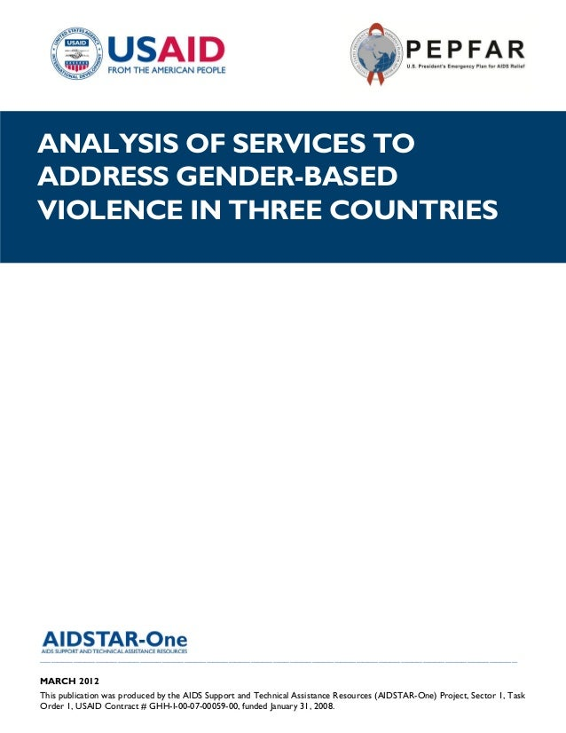 |ANALYSIS OF SERVICES TOADDRESS GENDER-BASEDVIOLENCE IN THREE COUNTRIES___________________________________________________...
