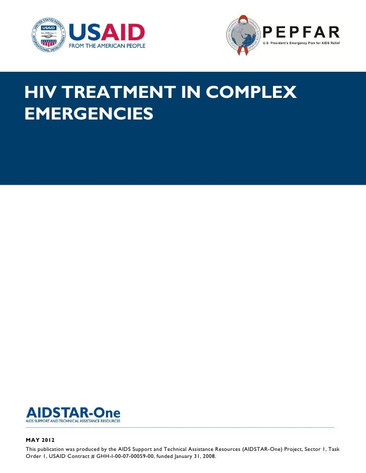 |HIV TREATMENT IN COMPLEXEMERGENCIES______________________________________________________________________________________...