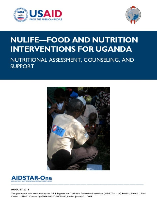 AIDSTAR-One NuLife—Food and Nutrition Interventions for Uganda