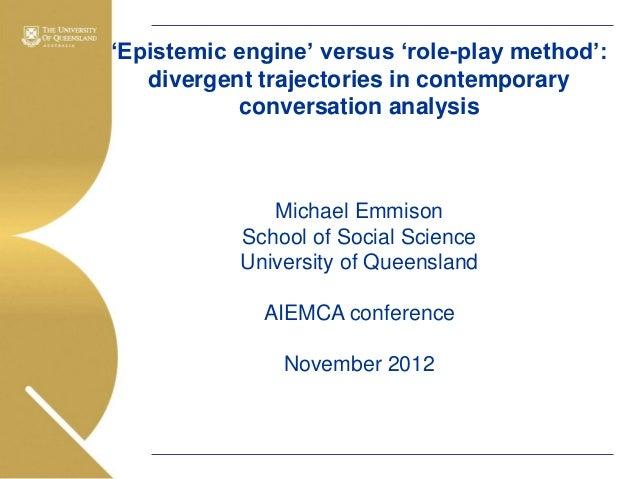 Associate Professor Michael Emmison: AIEMCA 2012 Keynote 1