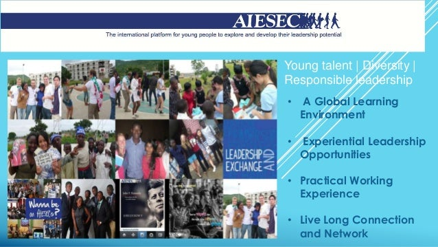 Young talent | Diversity | Responsible leadership • A Global Learning Environment • Experiential Leadership Opportunities ...