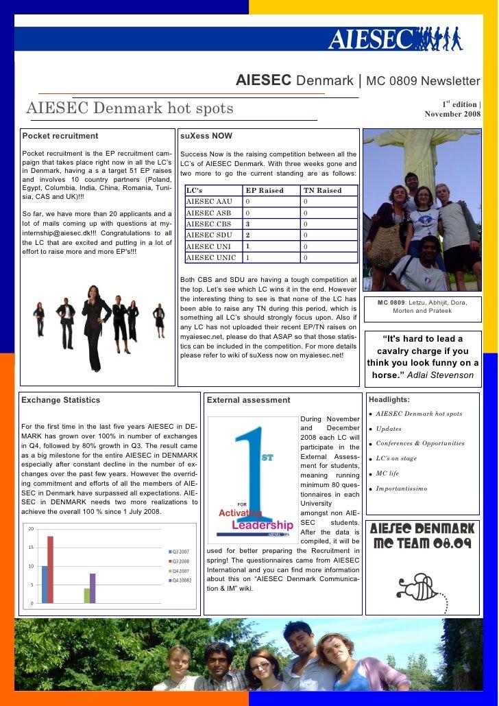 AIESEC Denmark | MC 0809 Newsletter  AIESEC Denmark hot spots                                                             ...