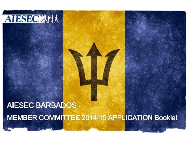 AIESEC Barbados_MC Application Booklet_14.15