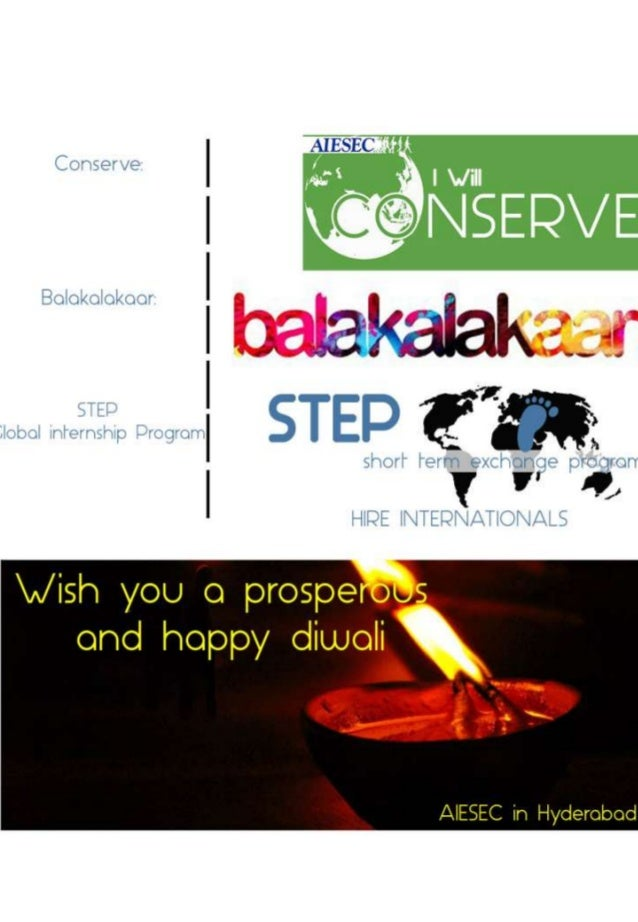 Contents • • • • • • • •  About AIESEC STEP – Global Internship Program Balakalakaar Conserve National Partners Local Part...