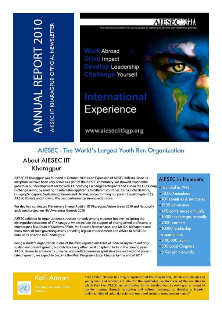 AIESEC - The World  s Largest Youth Run Organization      About AIESEC liT        KharagpurAIESEC liT Kha ragpurwas founde...