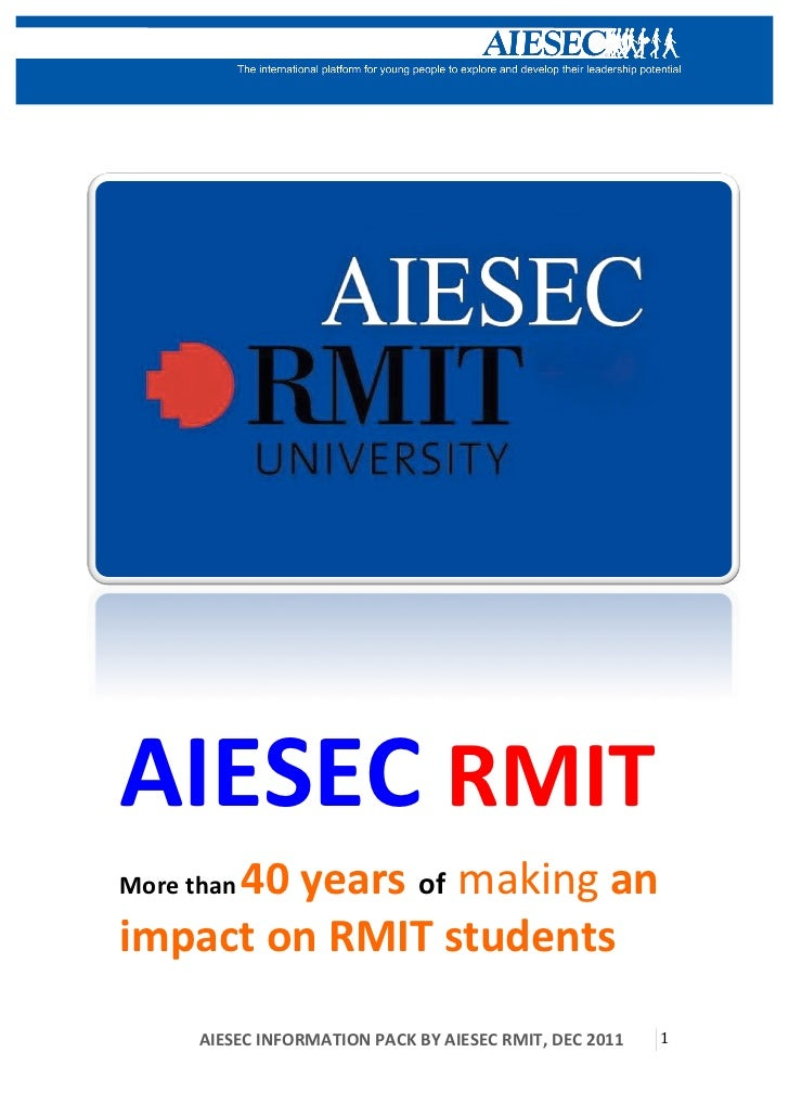 AIESEC RMIT     40 years of making an More than impact on RMIT students         ...