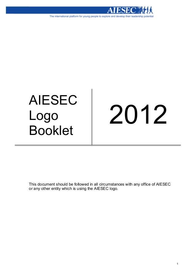 Aiesec logo booklet_2012