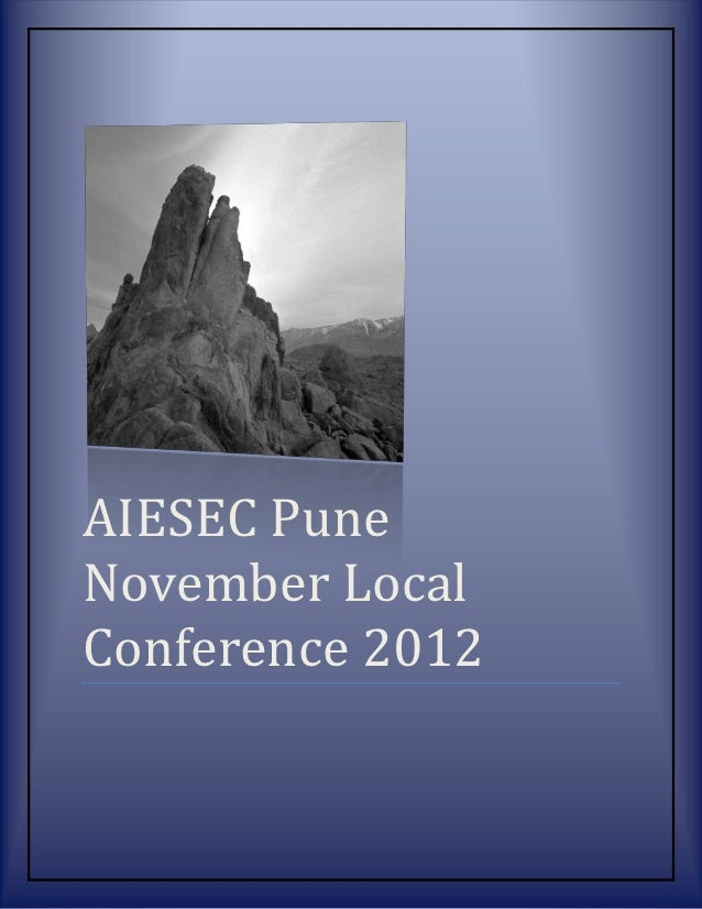 AIESEC PuneNovember LocalConference 2012
