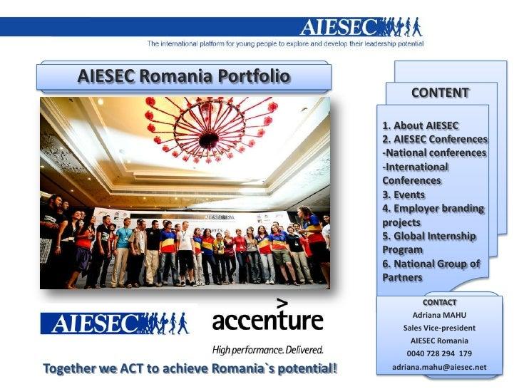 AIESEC Romania Portfolio                                                        CONTENT                                   ...