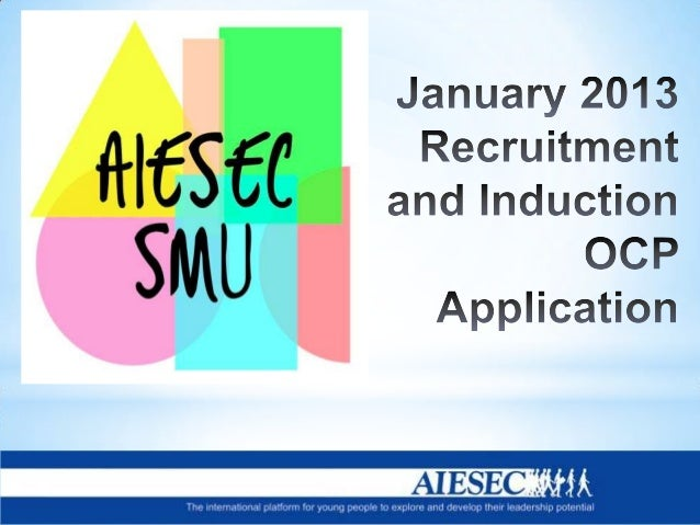 Hey AIESEC! The first semester of AY 2013-14 will be ending soon. We are looking for a committed and outstanding individua...