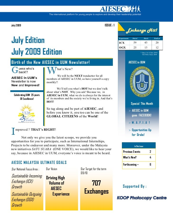 LC UUM Newsletter (July 2009)