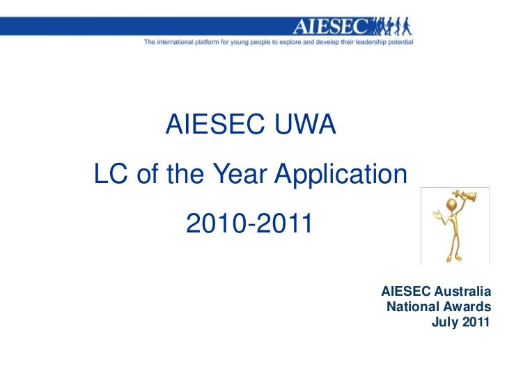 AIESEC UWA LC of the year award