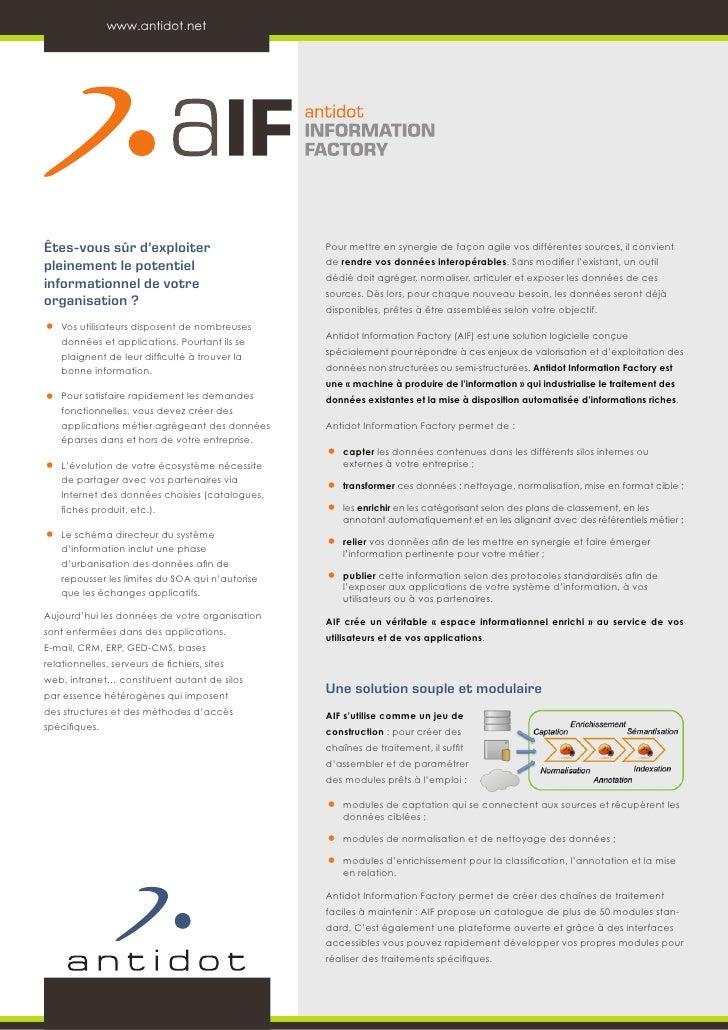 www.antidot.netÊtes-vous sûr d'exploiter                          Pour mettre en synergie de façon agile vos différentes s...